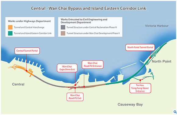 Central - Wan Chai Bypass and Island Eastern Corridor Link